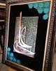 تابلوی معرق مس یاعلی (ع) سایز 60x80 سانتیمتر کاملا کار دست با پتینه فیروزه ای